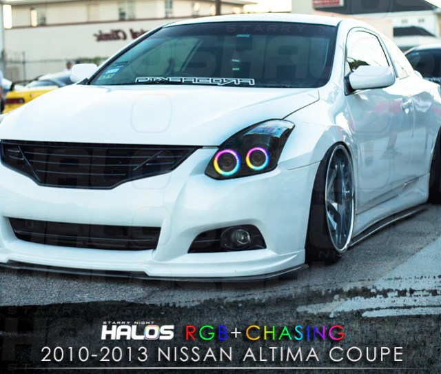 2010 2013 Nissan Altima Coupe Rgbchasing Starry Night Halo Kit 4 Hal Starry Night Halos