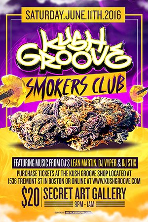 kush groove smokers club party