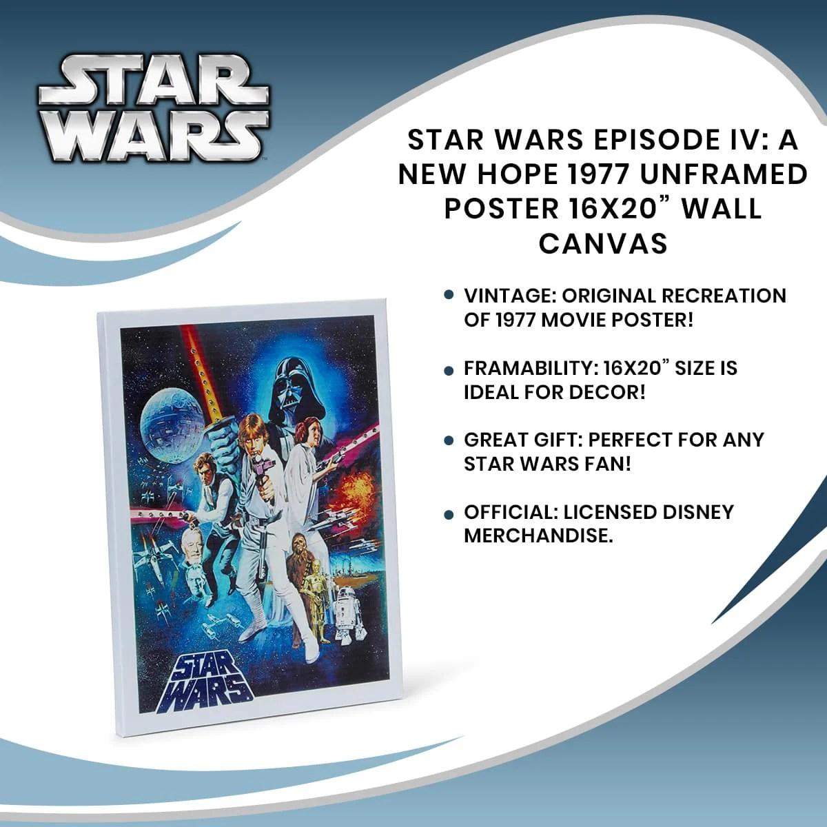 star wars 1977 poster 16 x 20 inch