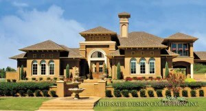 Courtyard Home Plans   House Plans with Outdoor Space   Sater Design     Courtyard House Plans