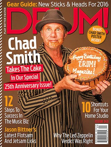 Drum Magazine September 2016 Chad Smith Cover