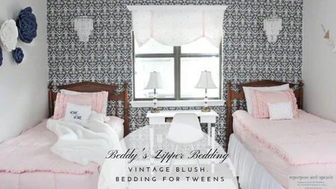 vintage blush best bedding for tweens