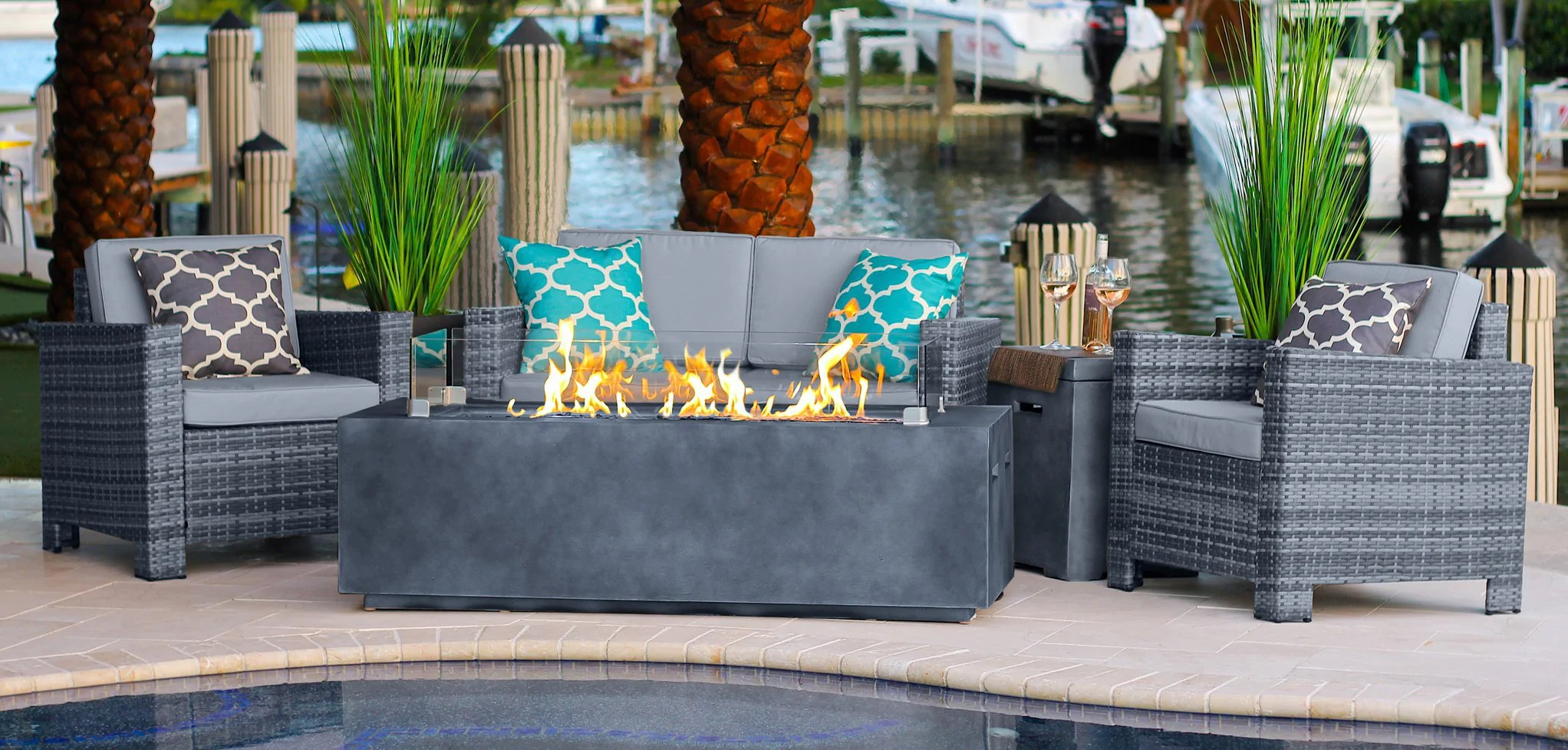 outdoor gas fire pit tables patio