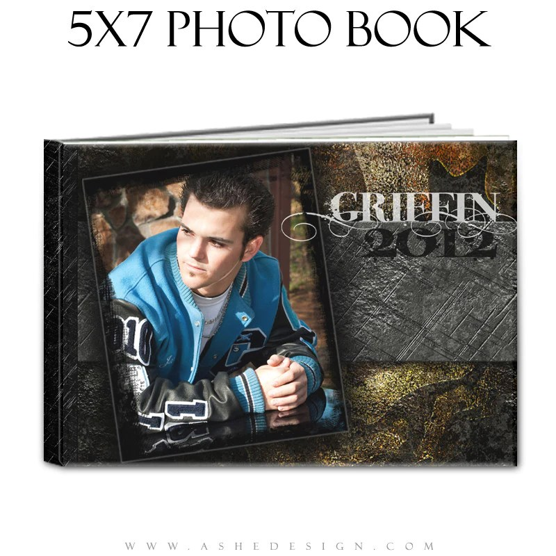 Tattooed 5x7 Senior Boy Photo Book AsheDesign
