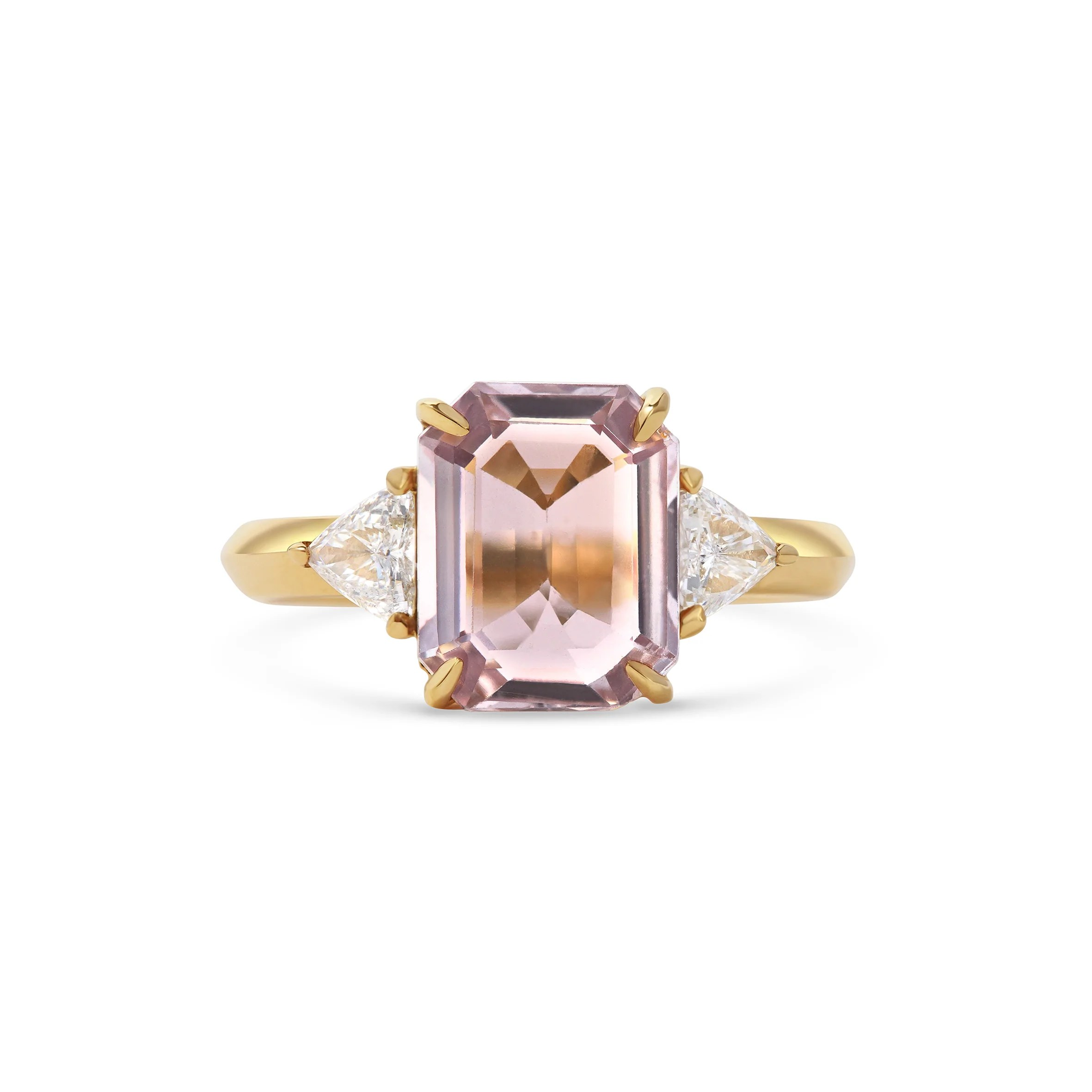 Bespoke Engagement Rings London     Rachel Boston Pink Sapphire Engagement Ring