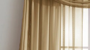 Warm Home Designs Gold Window Scarf Valance, Sheer Gold