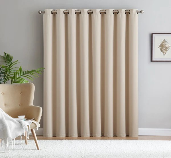 Warm Home Designs Ivory Patio Door Curtains Amp Wall To Wall Dividers