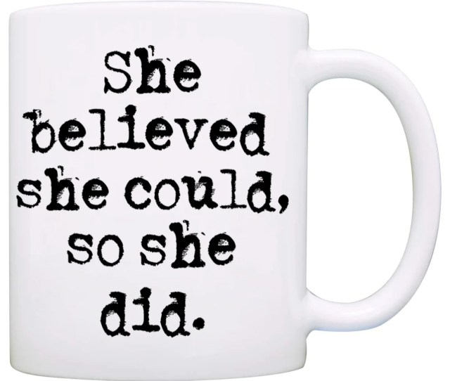 She Believed She Could So She Did Graduation Gift For Her Mug Unique Students Grad Gifts For Women Printed On Both Sides