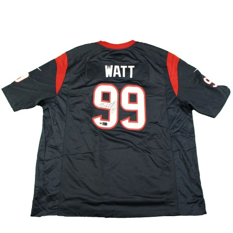 015fd9fe J. J. Watt Signed Houston Texans Nike Replica Blue Jersey ...