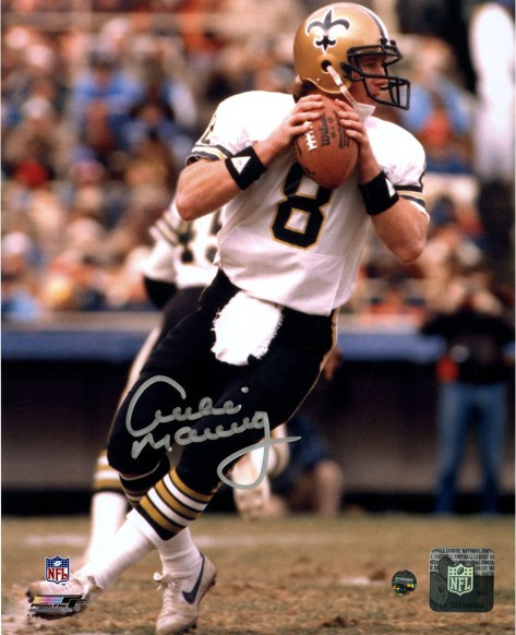 Archie Manning New Orleans Saints White Jersey Signed Vertical 8x10 Photo  ... e520d9a64