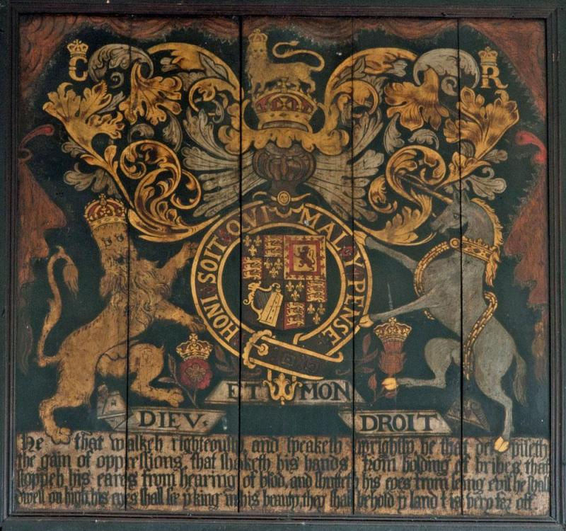 Royal Coat of Arms in Appleby Church