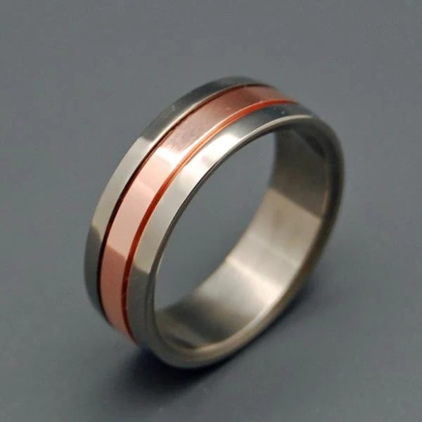 Minter Richter Titanium Rings Copper Meets Titanium