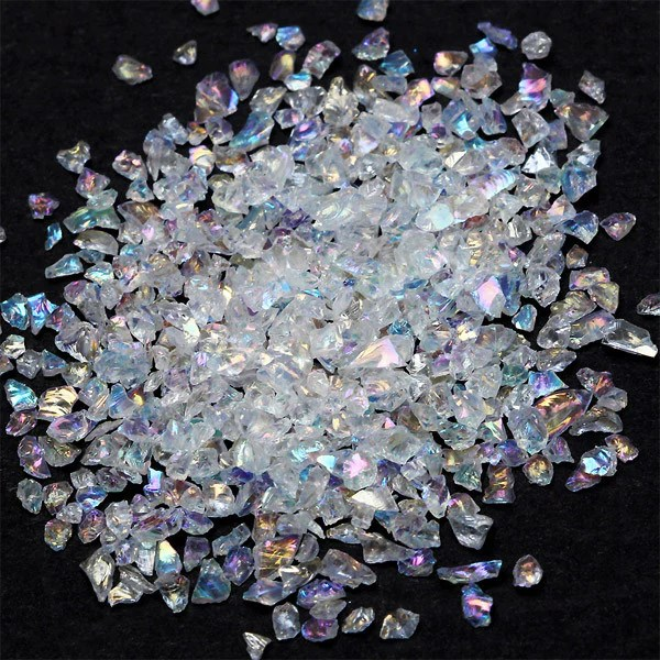 Fake Crystal Flakes In Ab Color Iridescent Quartz Flakes