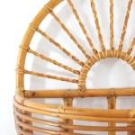 Sold Vintage Xl Rattan Wall Basket Wise Apple Vintage