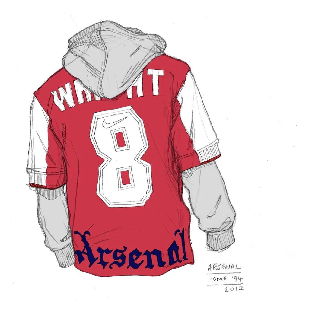 Angelo Trofa Arsenal home shirt