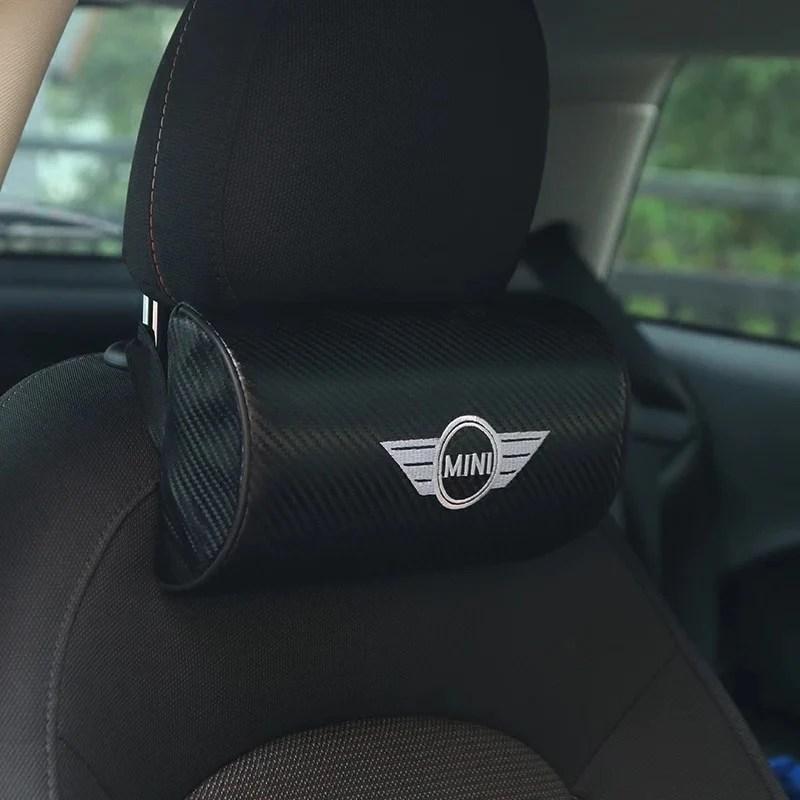 mini cooper logo car headrest pillow cushion
