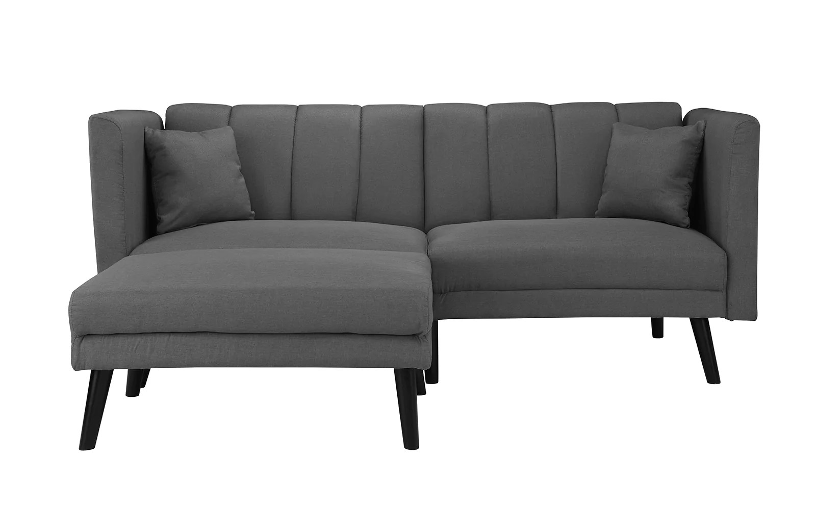 Esme Contemporary Loveseat Sleeper Futon With Chaise Lounge
