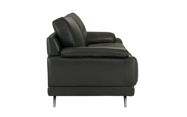 Elio Mid Century Modern Leather Match Sofa