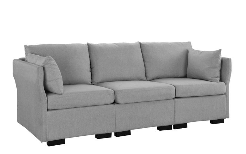 Miso Contemporary Coastal Living Linen Sofa
