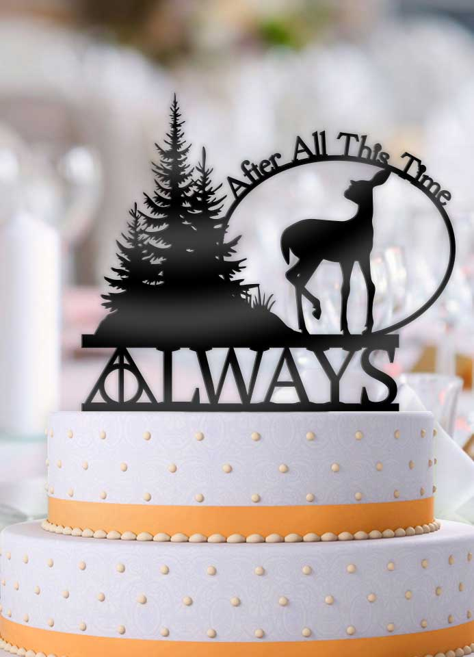 Harry Potter Always After All This Time Deer Wedding Cake Topper     Harry Potter Always After All This Time Deer Wedding Cake Topper    Bee3dgifts