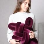 Velvet Knot Pillow Baboosf