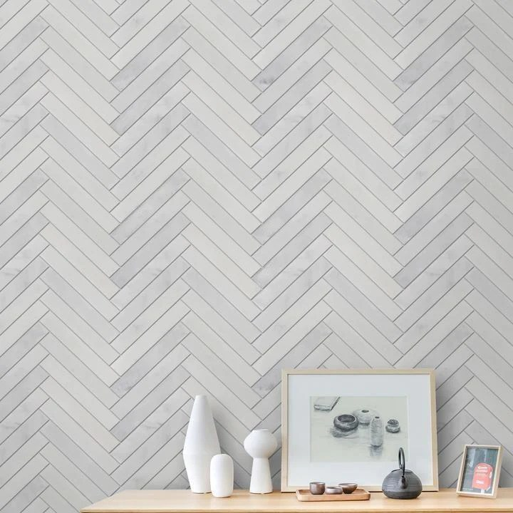 carrara venato marble mosaic tile 1x6 long herringbone polished or honed