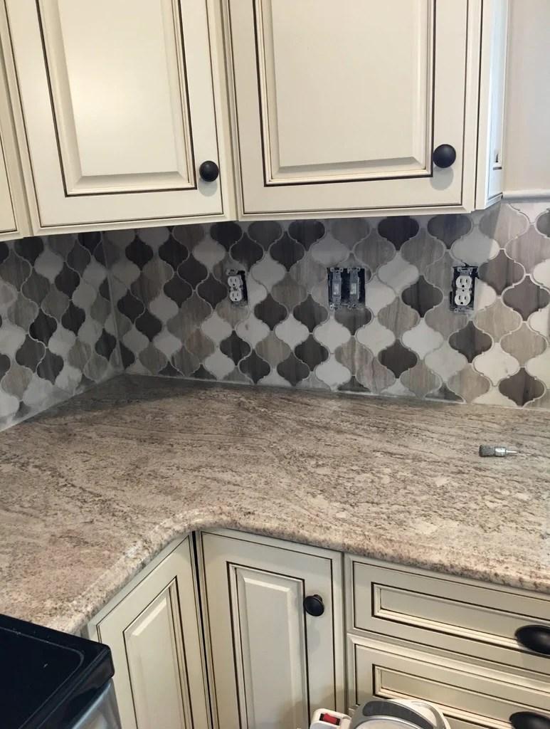 mixed marble mosaic tile 4 arabesque