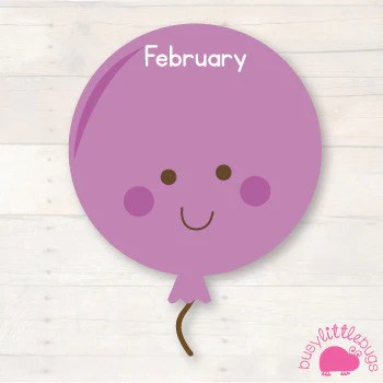 Balloon Birthday Chart Busy Little Bugs