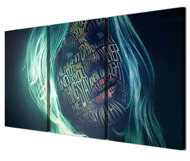 Hd Printed  Piece Canvas Art Women Letter Graffiti Face Painting Abstract Painting Posters And Prints