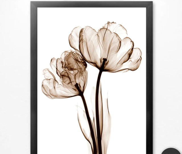 Transparent Flowers Wall Art Canvas Painting Posters And Prints Art Picture Abstract Wall Pictures No Poster