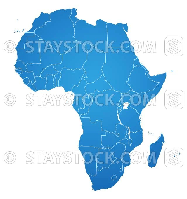 Africa Flat Map vector     StayStock