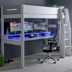 Urban High Sleeper Console Gaming Bed With Built In Gaming Desk Family Window