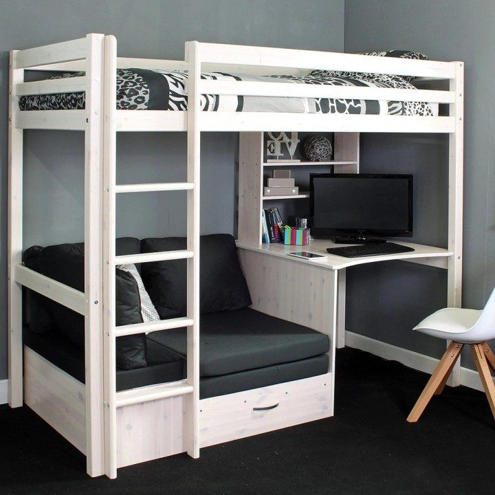 High Sleeper Bed With Desk And Sofa Conceptstructuresllc Com