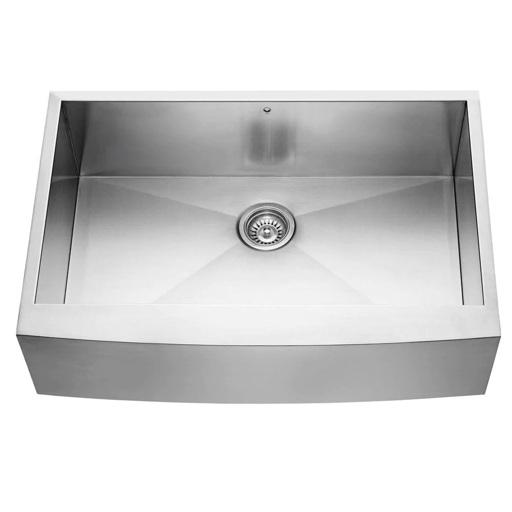 vigo undermount farmhouse apron front 33 in single bowl kitchen sink in stainless steel