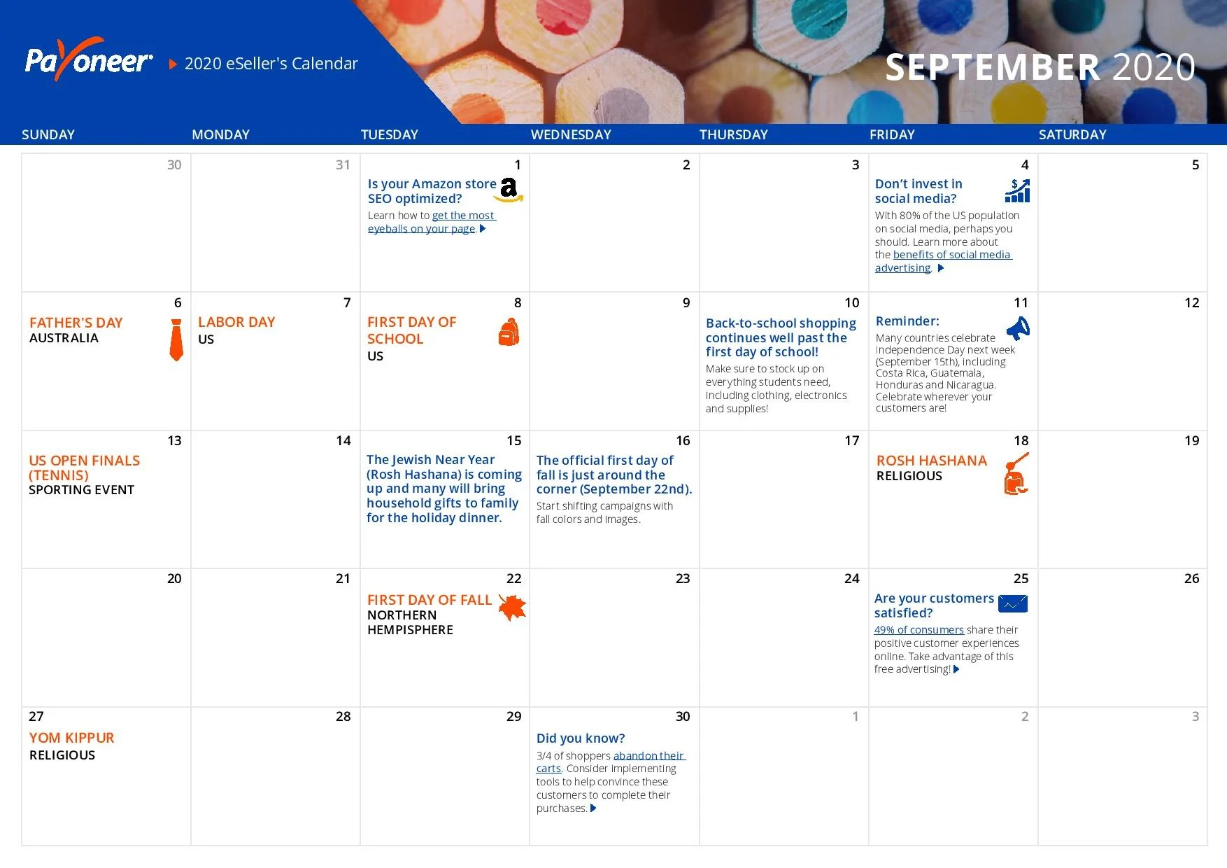 Shopify eCommerce Calendar - September