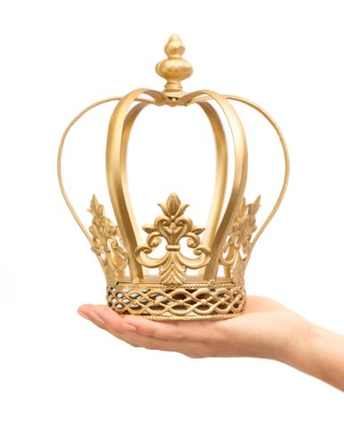 Gold Crown Cake Topper Jane The Queen Of Crowns