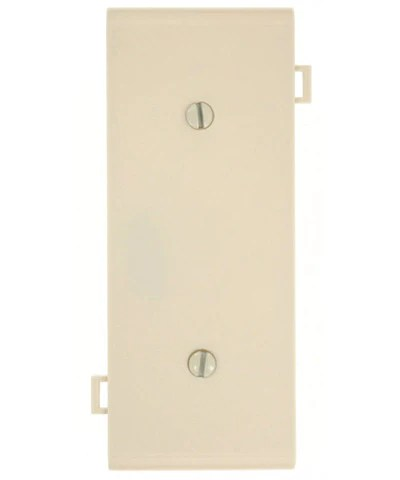 sectional wall plate blank strapmount opening center panel light almond psc14 t
