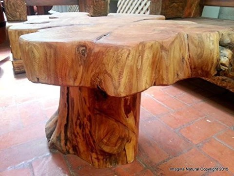 naturally unique cypress tree trunk handmade coffee table rustic chilean log table