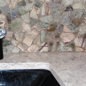 stone mosaic backsplash pictures