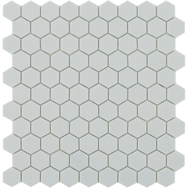 https www aquablumosaics com products matte light grey hexagon tile
