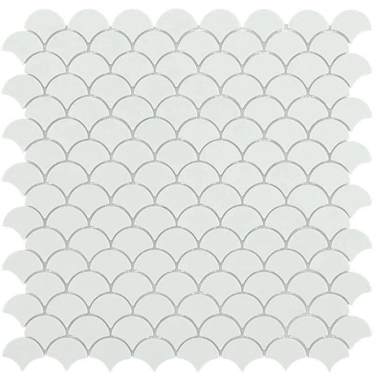 https www aquablumosaics com products matte white fish scale mosaic glass tile