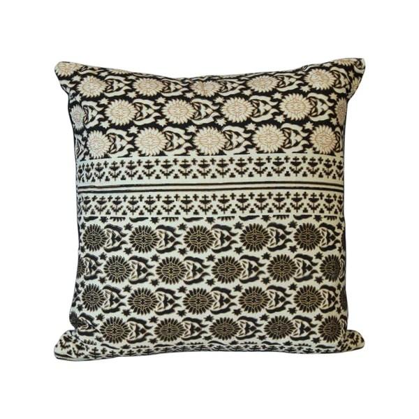 black circles reversible 16x16 throw pillow cover kalatmakhomedecor