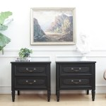 Shabby Chic Black Vintage Nightstands Set Of Two No333 Shopgoldenpineapple