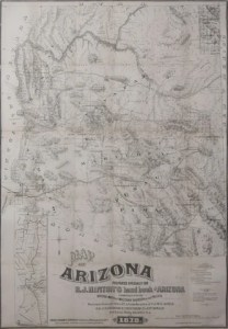 Antique Maps     Page 38     Arader Galleries Richard Josiah Hinton  1830 1901   Map of Arizona