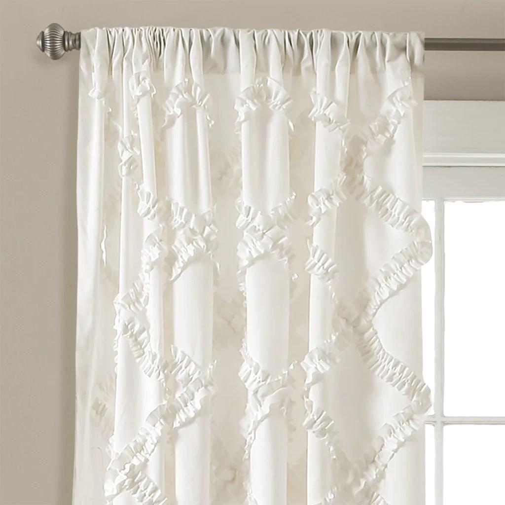 Ruffle Diamond Window Curtain Set Lush Decor Wwwlushdecorcom
