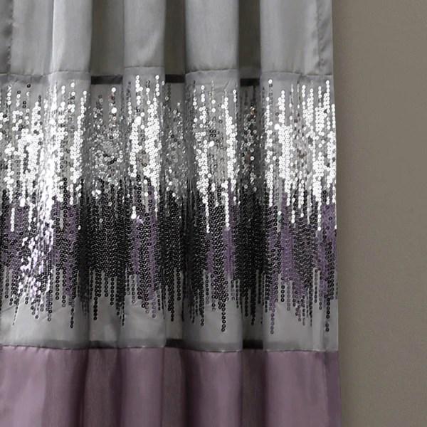 Night Sky Window Curtain Purple Gray Lush Decor Www
