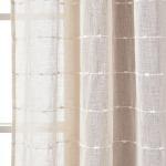 Farmhouse Textured Grommet Sheer Window Curtain Panel Set Lush Decor Www Lushdecor Com Lushdecor