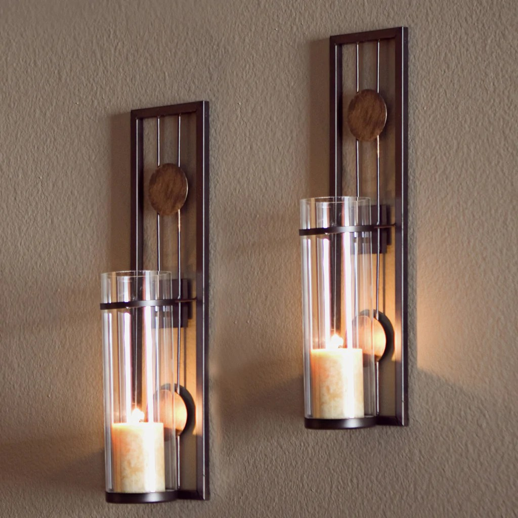 QBA636 CONTEMPORARY METAL WALL SCONCE SET ... on Modern Wall Sconces id=89437