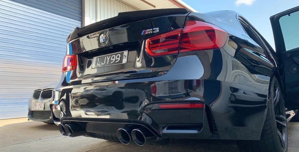 mode design 3 75 98mm angle cut slip on exhaust tips suit bmw m3 m4 f80 f82 m2 competition f87 s55