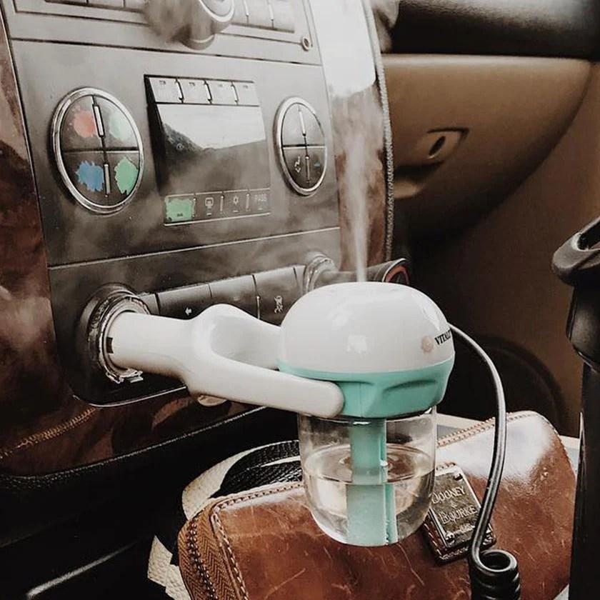 Mini Difusor Umidificador Aromatizador 12V para Carro - Caroma